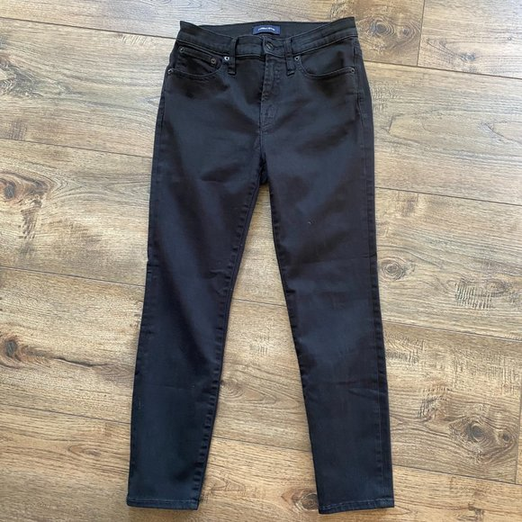 J.Crew Toothpick Black Jeans